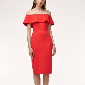 Babaton (Aritzia) Ruslan off-the-shoulder dress
